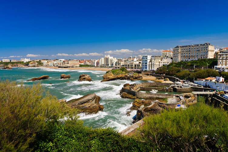 Cityscape Of Biarritz, France